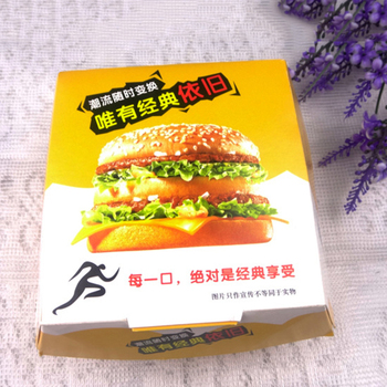 High Quality Wholesale Food Grade Hamburger Packaging Paper Boxes