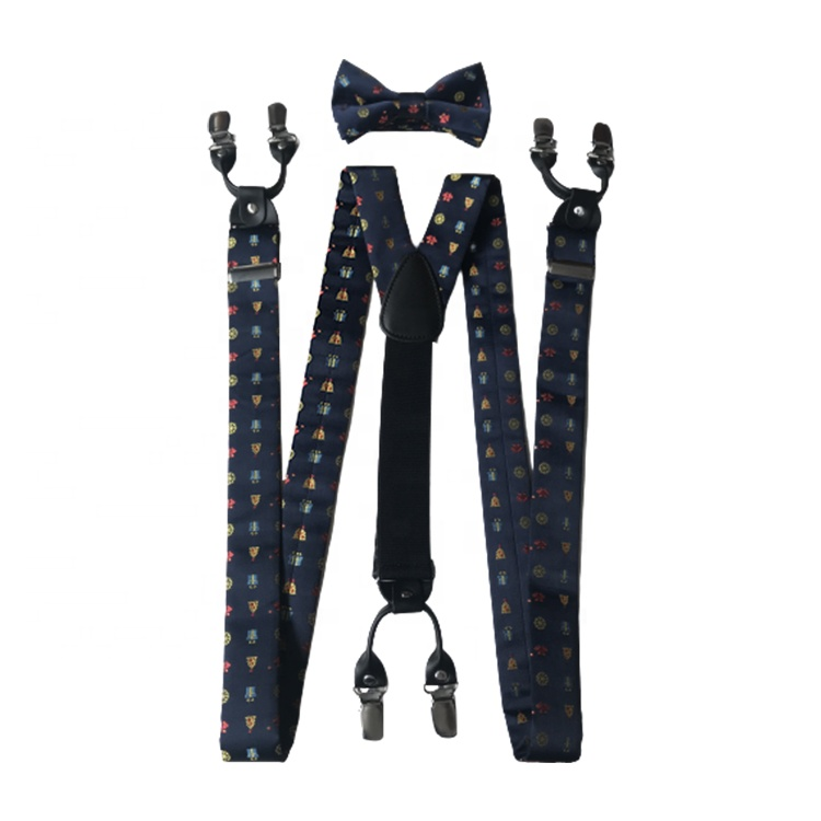 Adjustable Christmas Style Bow Tie <strong>Mens</strong> <strong>Suspenders</strong>