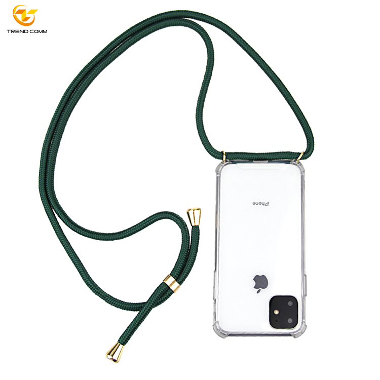 New Necklace Case For iPhone 11 Pro Max Shockproof TPU Rope Case