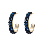 YMearring-338 XUPING Crystal from Swarovski jewelry gold plated color fashion crystal hoop earrings for women