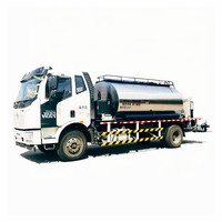 10 Ton Heated Asphalt Tank Road Maintenance Vehicle Bitumen Distributor Paver Truck