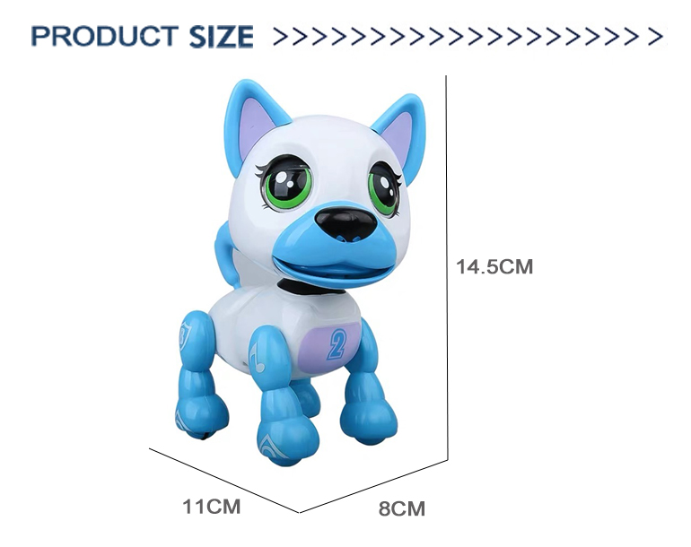 50% Discount Popular Russian Pocket Smart Puppy Walking Music Pet Toys Intelligent Robot Dog