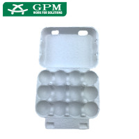 12 Holes Biodegradable Recycled Paper Pulp Quail Egg Cartons for sale