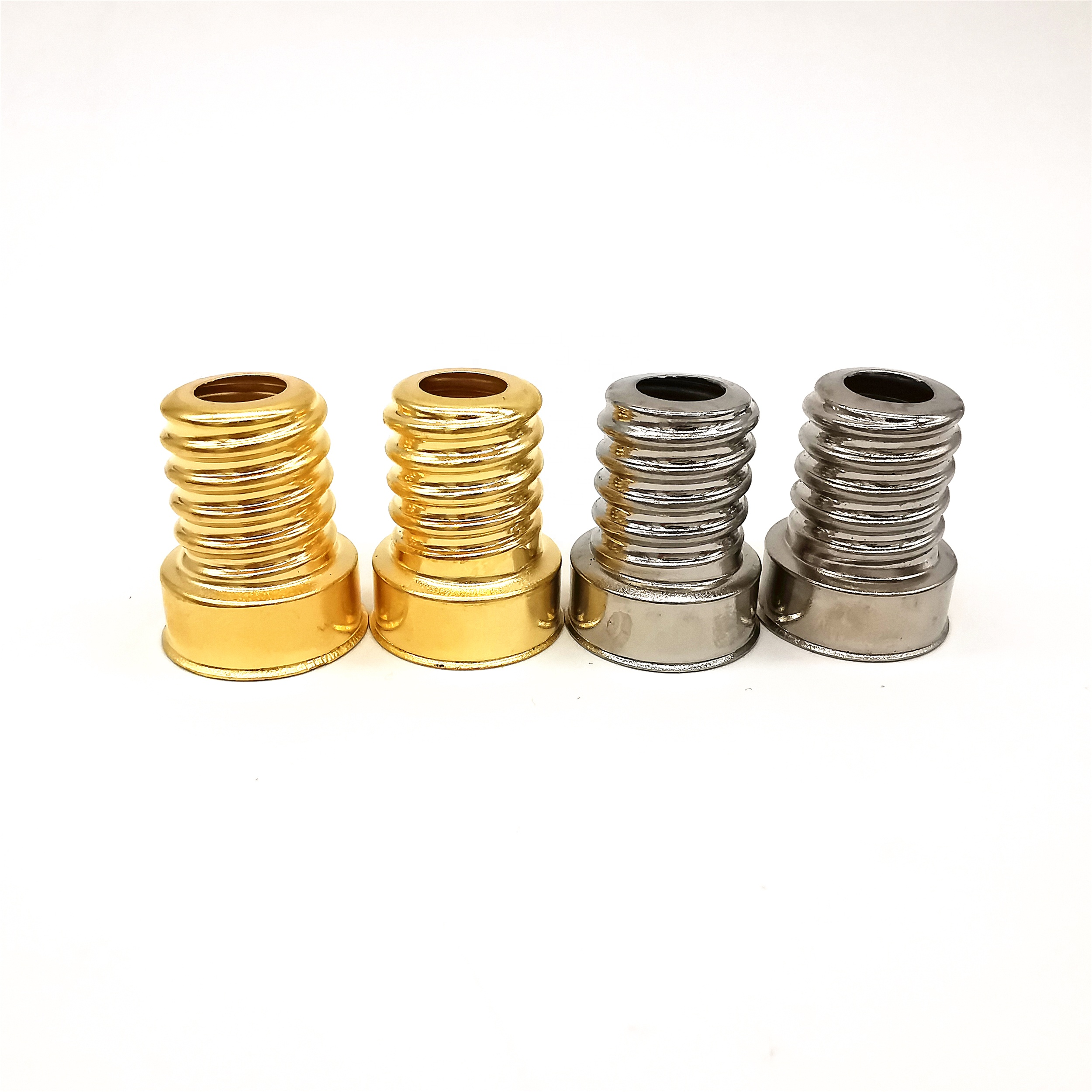 E14/25*17 copper plated nickel lamp base cap holder lamp cover E14/25 brass with nickel E14 lamp cap