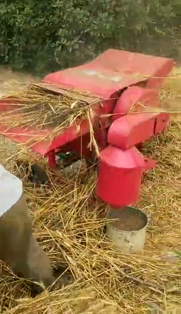 Diesel gasoline engine grain wheat paddy rice thresher