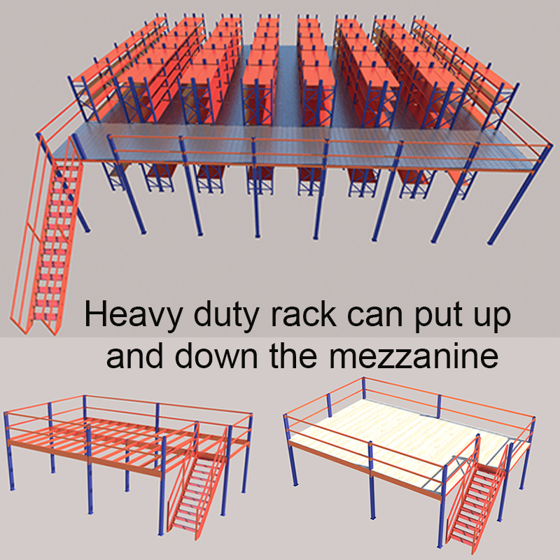 mezzanine floor attic loft wire racking heavy duty rack for ing shelf shelves