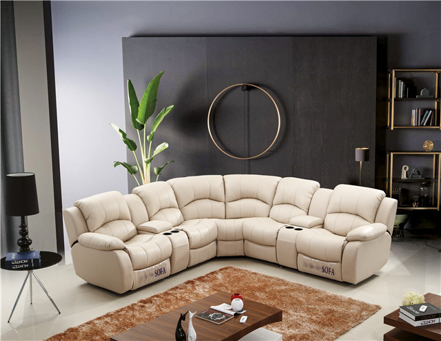 living room genuine leather u shaped sofa <strong>furniture</strong>