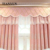 Low Moq Insulated New Sunproof Groomet Pink Blackout Window Curtains Bedroom