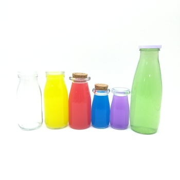 OEM Milk / Beverage / Juice Glass Bottle 100ML 200ML 250ML 500ML 1000ML