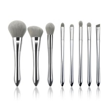 Zilver Vegan <span class=keywords><strong>Make-Up</strong></span> <span class=keywords><strong>Kwasten</strong></span> <span class=keywords><strong>Private</strong></span> <span class=keywords><strong>Label</strong></span> Make Up Brush Sets