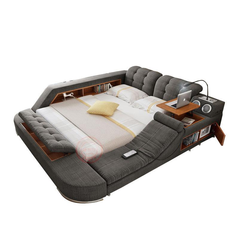 도매 인기있는 다다미 다기능 가죽 침대 마사지 및 보관