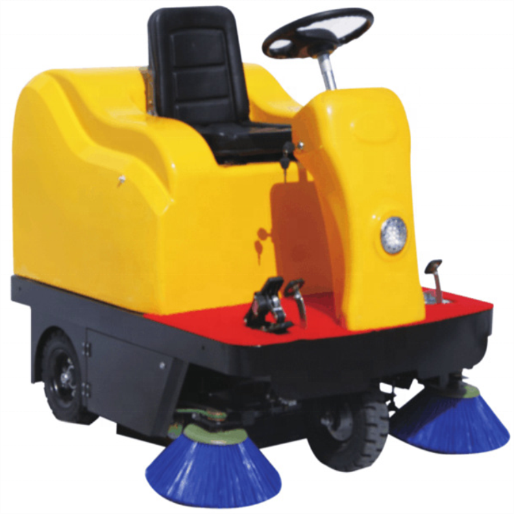 Ride on road sweeper hydrojetting cleaning truck