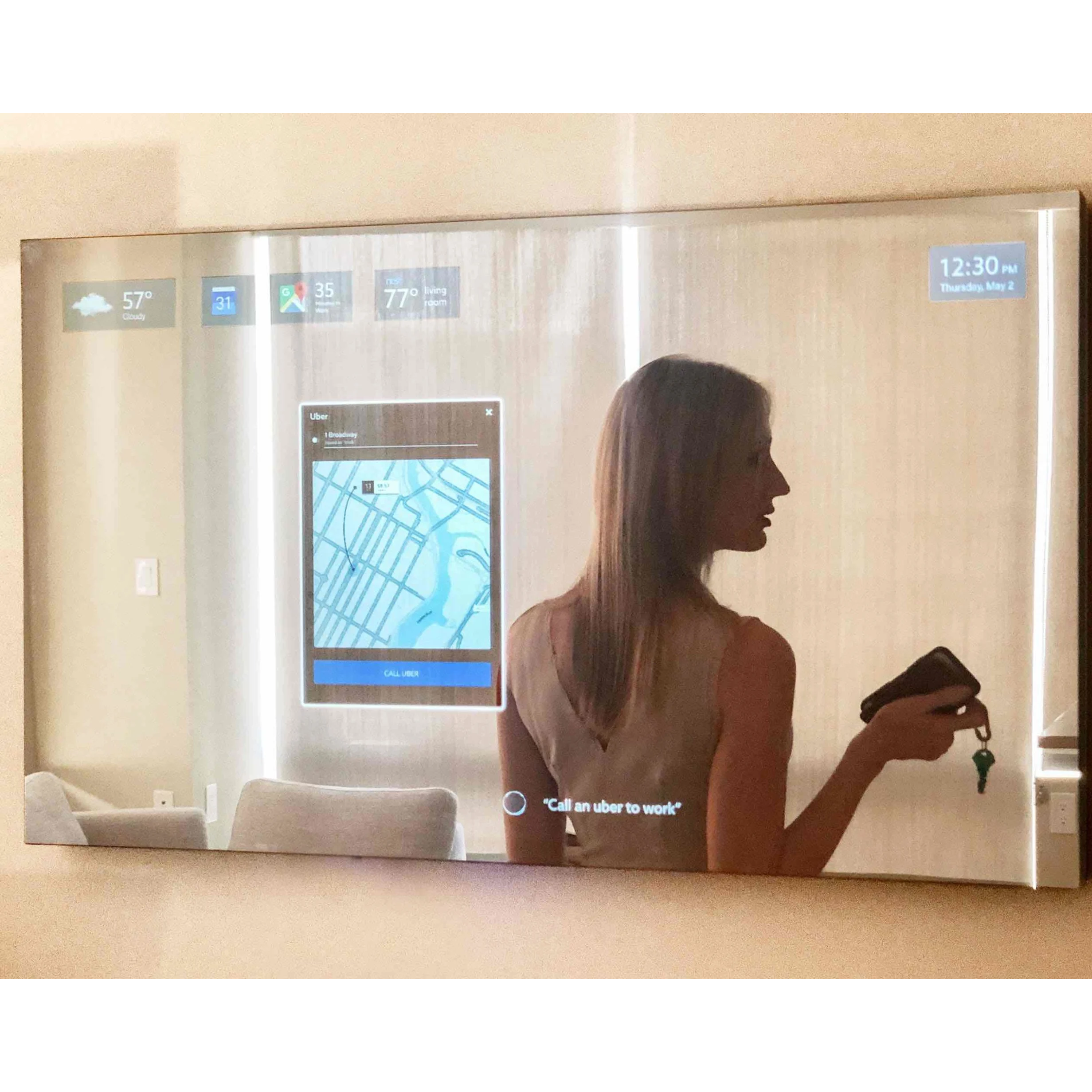 Touch Control Led Retail Wifi Smart vanity mirror light For Bathroom tv Smart Magic Mirror Lcd
