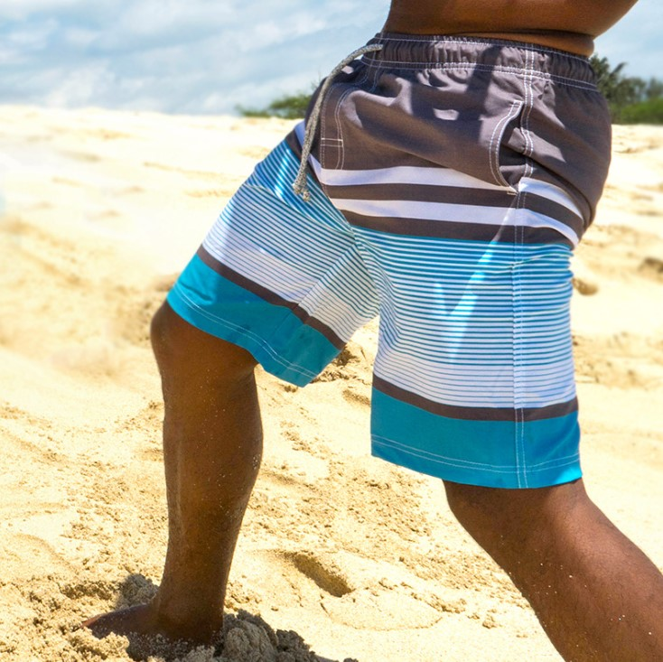 Boy Swim Trunks Quick Dry UPF 50+ Beach Board Shorts  4 way stretch recycle material Mesh Lining Boardshorts