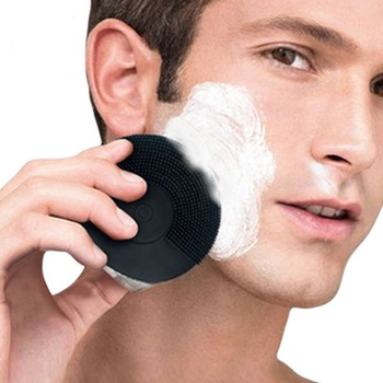 Ultrasonic silicone facial cleansing brush face skin brush for man