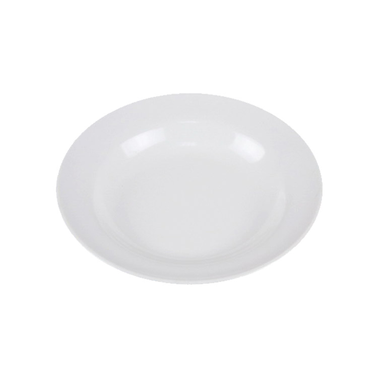 Wholesale custom design 9 inch round white 100% melamine round plastic plate