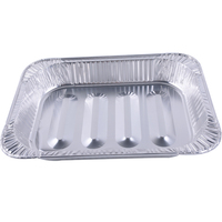 Disposable aluminium foil bbq grill pan full size steam table pan food takeaway containers