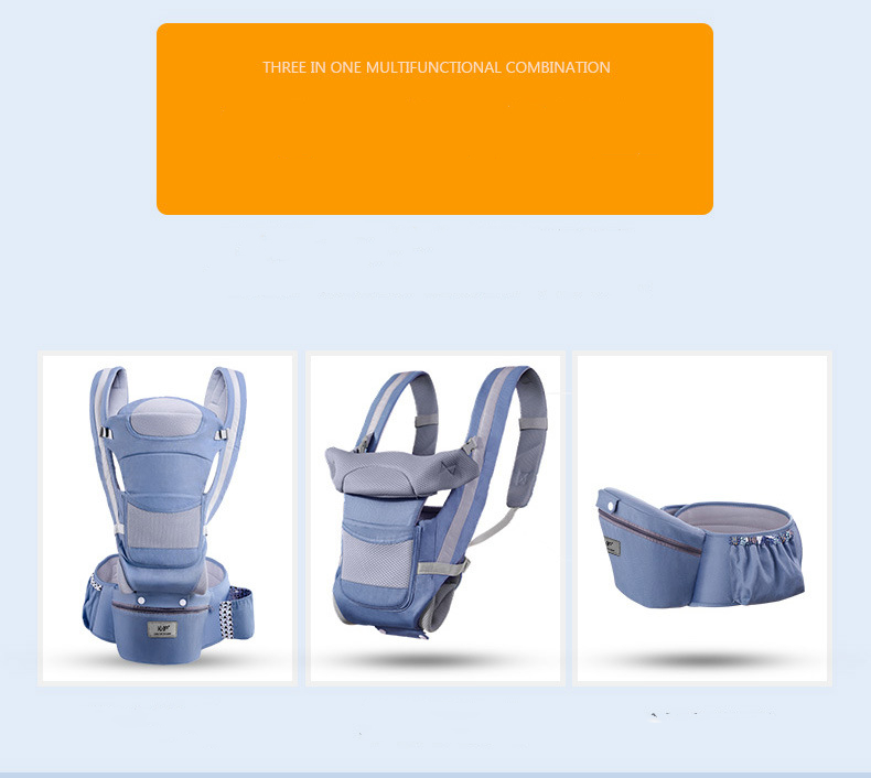 The best organic cotton baby carrier with waist support, saddle-shaped baby backpack for all seasons