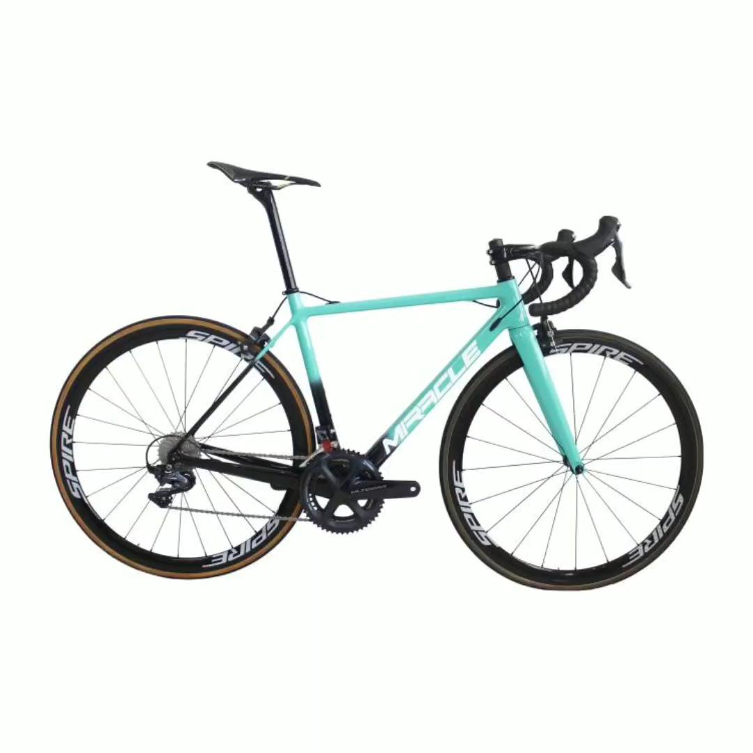 6.8KG סופר אור כביש פחמן אופניים R8000 22S קבוצת סט 38mm tubular פחם זוג גלגלים