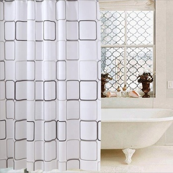Trade Assurance pvc eva Shower Curtain Waterproof Shower Curtain 180x180 Fabric For The Bathroom