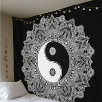 High quality 100% polyester 3d printing forest tree hippy wall hanging tapestry