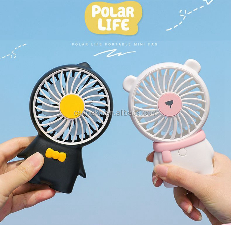 Travelling 800mAh Cute Animal Mini Hand Fan For Kids Gifts
