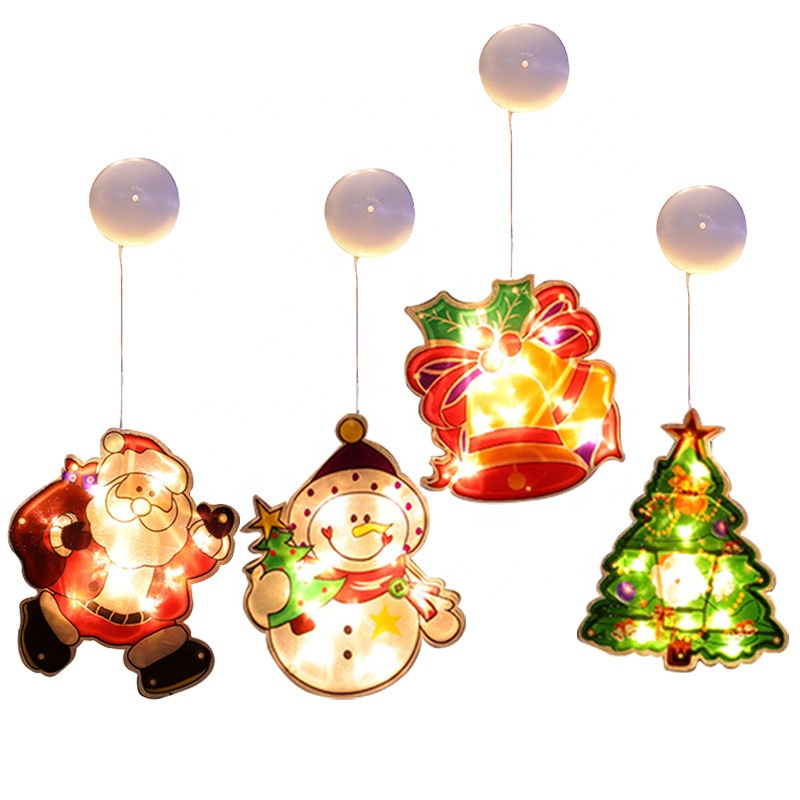 Christmas Lights Amazon Led Window Suction Cups Hanging Lights Window Stickers Christmas Decoration Atmosphere Lights