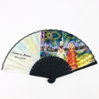 Wedding Party Guest Gift Silk Fabric Bamboo Hand Fan