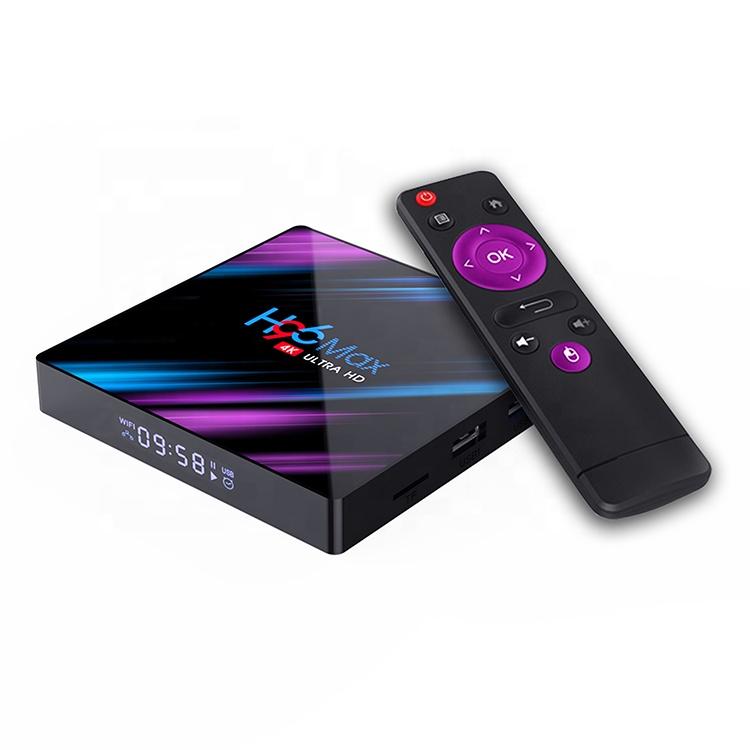 फैक्टरी स्मार्ट 4K डिजिटल टीवी बॉक्स H96 अधिकतम rockchip RK3318 एंड्रॉयड 9.0 सेट टॉप बॉक्स