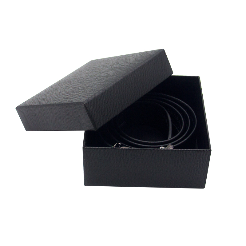 product-Dezheng-Customized necklace ring eyelash packaging box black paper jewelry gift box with hea-1