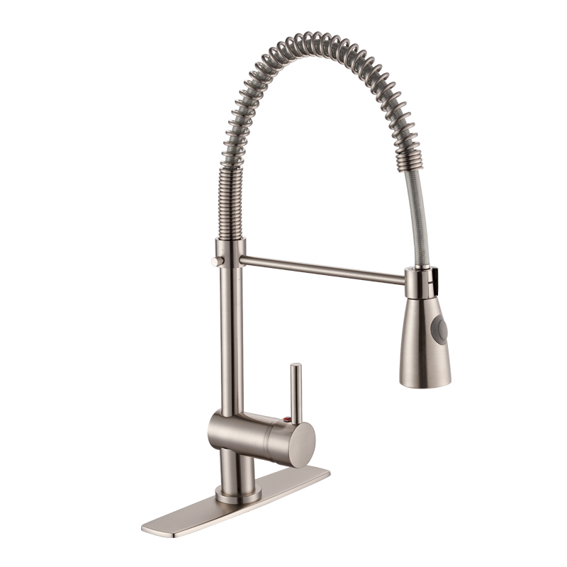 Chinese Manufacturer Supply Single Lever SS <strong>Spring</strong> Pull Out Pull Down Sink <strong>Kitchen</strong> <strong>Faucet</strong> Mixer