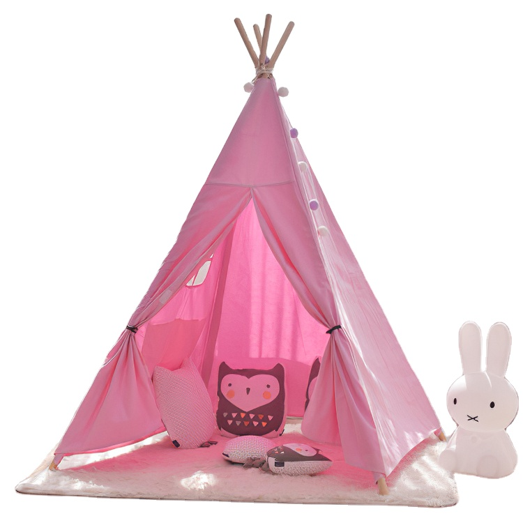 Wholesale Teepee Tent Kids Cotton Canvas Children Tipi Tent For Kids Teepee