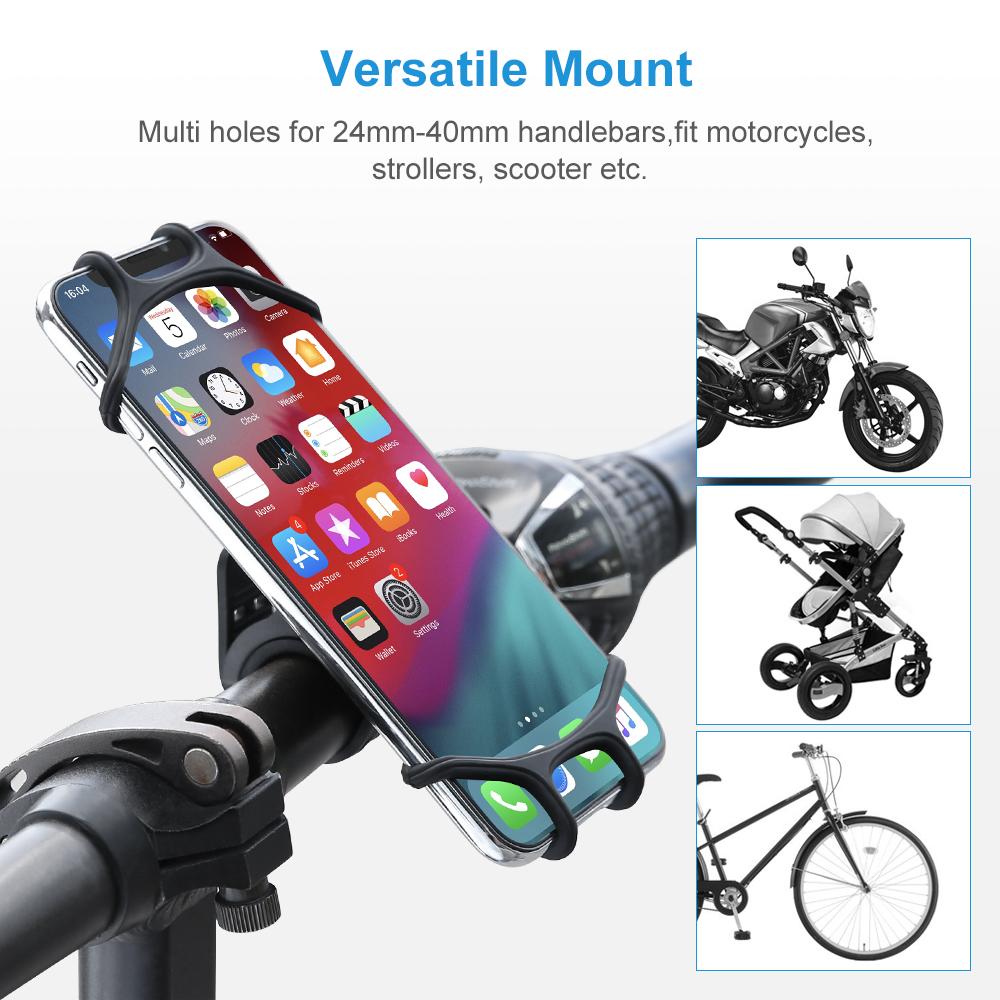 Free Shipping Floveme Flexible Bicycle Smartphone Holder 360 Rotation Silicone Bike Mount Mobile Phone Holder