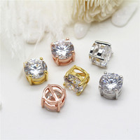 Wholesale Hot Selling Round Zircon Connector Custom Women Pendant Jewelry Accessories