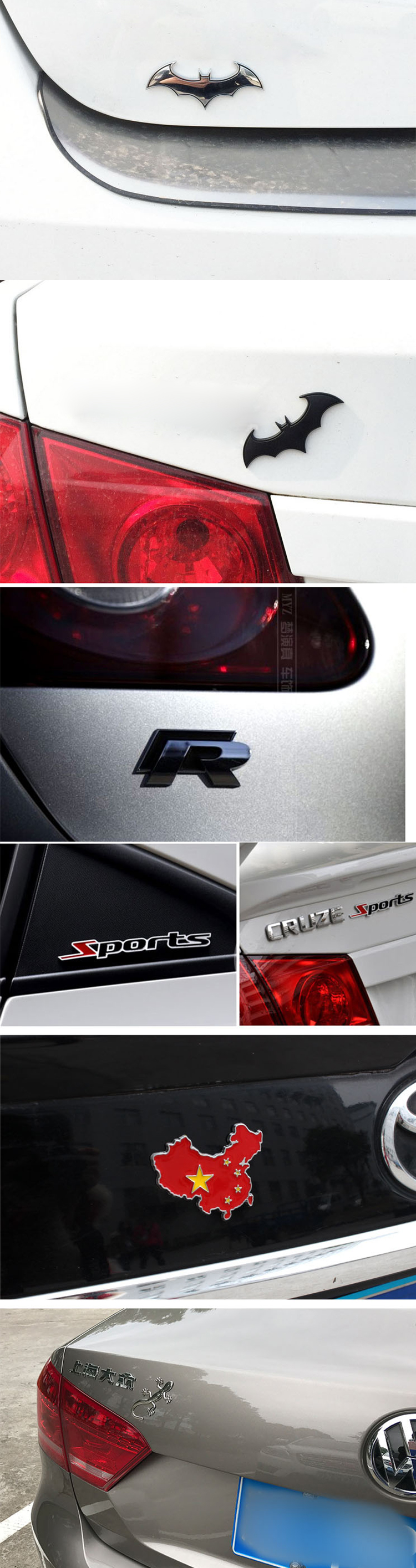 Jiahong auto logo metal custom car badges/car emblem/car sticker