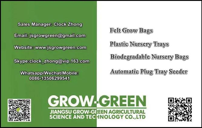 wholesale Environmental and non toxicity Seed Biodegradable Plant Nursery Bags Non Woven Fabric Grow Gardens Pots