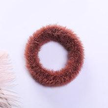 Милые резинки для волос из искусственного кроличьего меха, эластичные резинки для волос для девочек, женские мягкие резинки для волос ярких...(Китай)