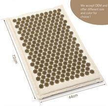 mat of nails acupuncture and Massage cushion relax stress pain relief 100% natural linen with cotton for health care