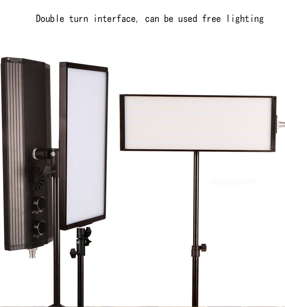 60W 240pcs Bi-color LED Video Light Photography Studio Lighting Soft Lamp Dimmable Photo light For Camera Shooting