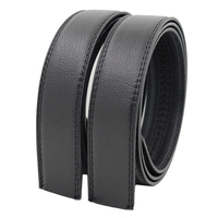 PU Belt Strap Men's Automatic Buckle Belt Without Buckles Ratchet Belts Strap Cheap Low Quality LQbelt Factory
