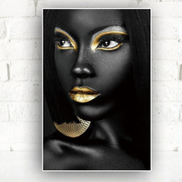 Canvas Wall Decor Body Picture Art Craft Modern Home African Oil Paintings Prints Black White Landscaping Painting