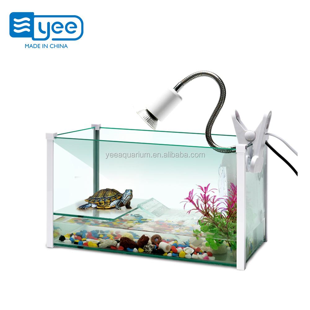 Yee Aquarium Accessories Mini Fish Tortoise Turtle Glass Tank Fish Tank For Sale Buy Turtle Tank Tortoise Tank Glass Turtle Tank Product On Alibaba Com