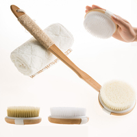 Comfy Mate Dry Brushing Bath and Body Brush Best for Dry/Wet Skin Exfoliating Bath & Shower Scrub
