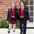 School School Factory Direct Sale British Style Autumn And Winter Ponte-de-Roma Woven Children School Uniform Suit