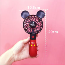 Портативный вентилятор с милым Микки-Маусом, перезаряжаемый встроенный аккумулятор, 800 мА USB порт, удобный воздушный вентилятор охлаждения, ...(Китай)