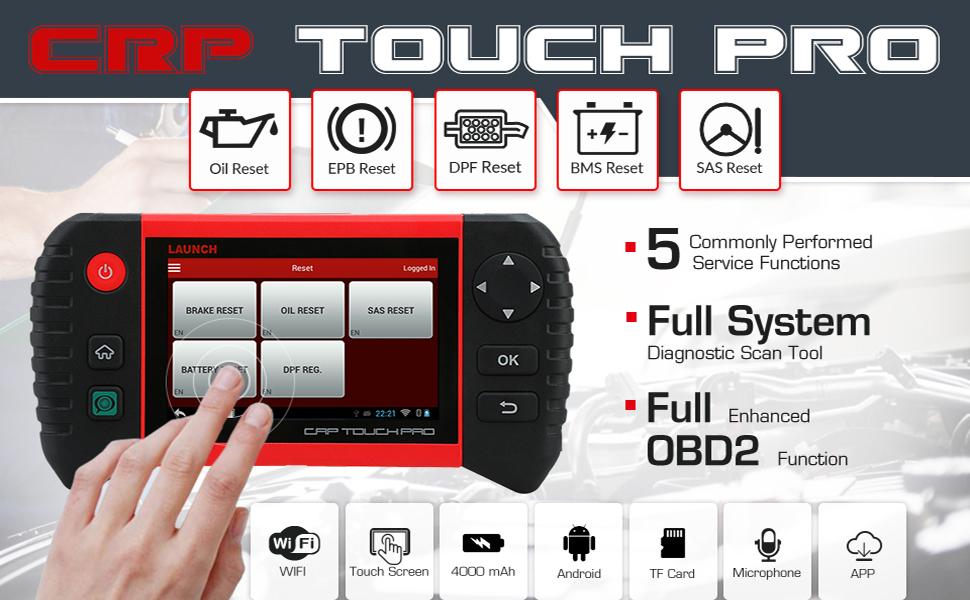 Launch CRP Touch Pro Diagnostic Car Scanner OBD2 Full Function Launch Diagnostic Machine Cars