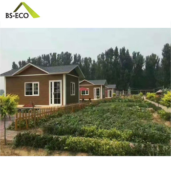 Latest hot sale holiday prefabricated house villas cabins low cost bungalow for sale
