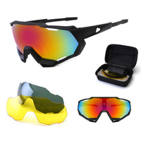 Super Outdoor sports cycling glasses dazzling windproof polarized Sunglasses with set