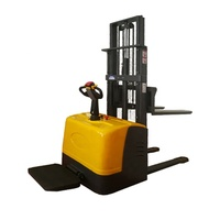 1.2ton 1.6meter full electric stacker truck pallet lift stacker forklift