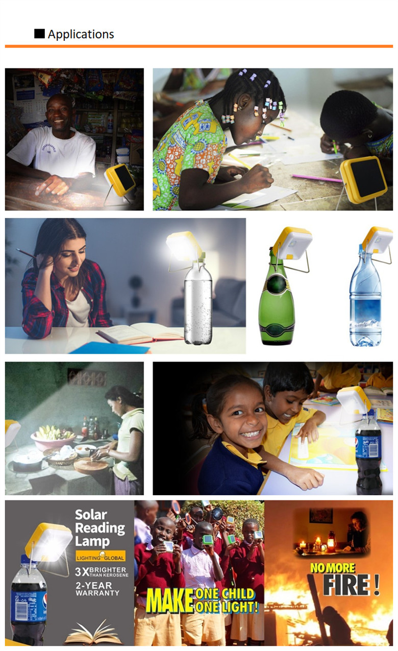 Draagbare Kleine Solar Led Tafel Leeslamp Solar Kerosine Lamp Met Roestvrij Stand Ontwerp